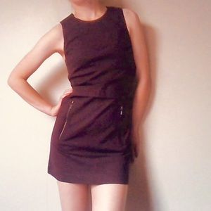 Aritzia Talula Maroon Work Dress